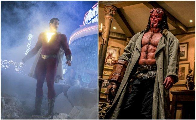 """Shazam!"" electrocuta a ""Hellboy"" en la taquilla"